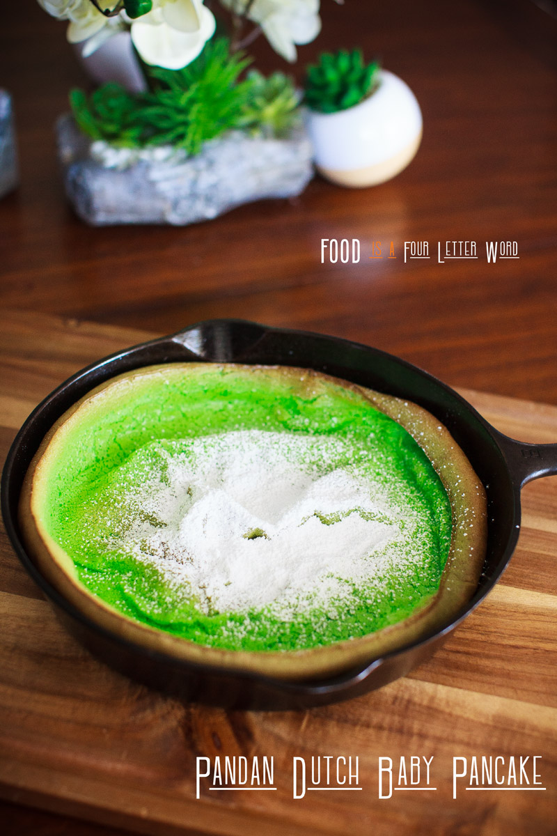 Pandan Dutch Baby Pancake Recipe