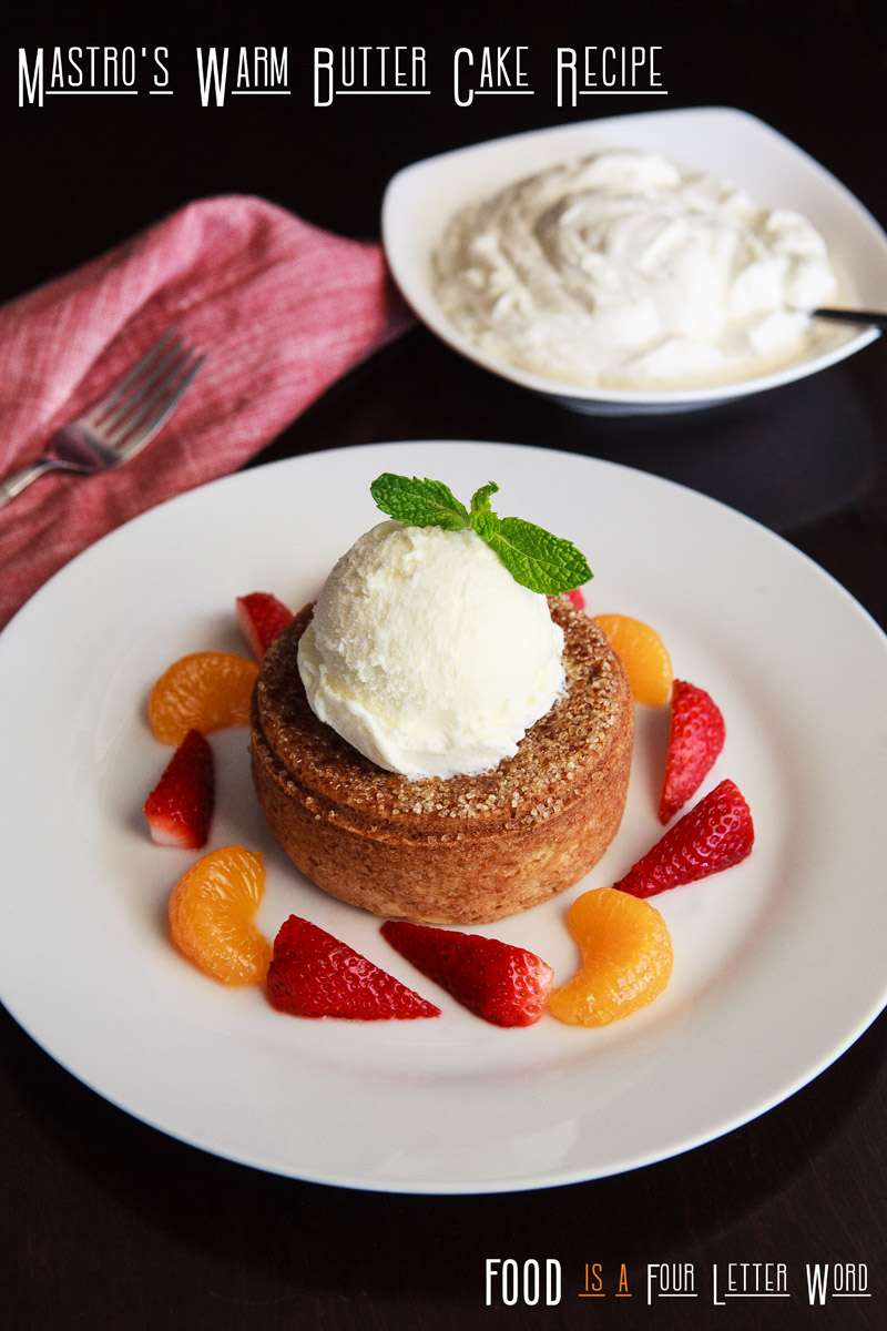 Mastro's Warm Butter Cake Recipe