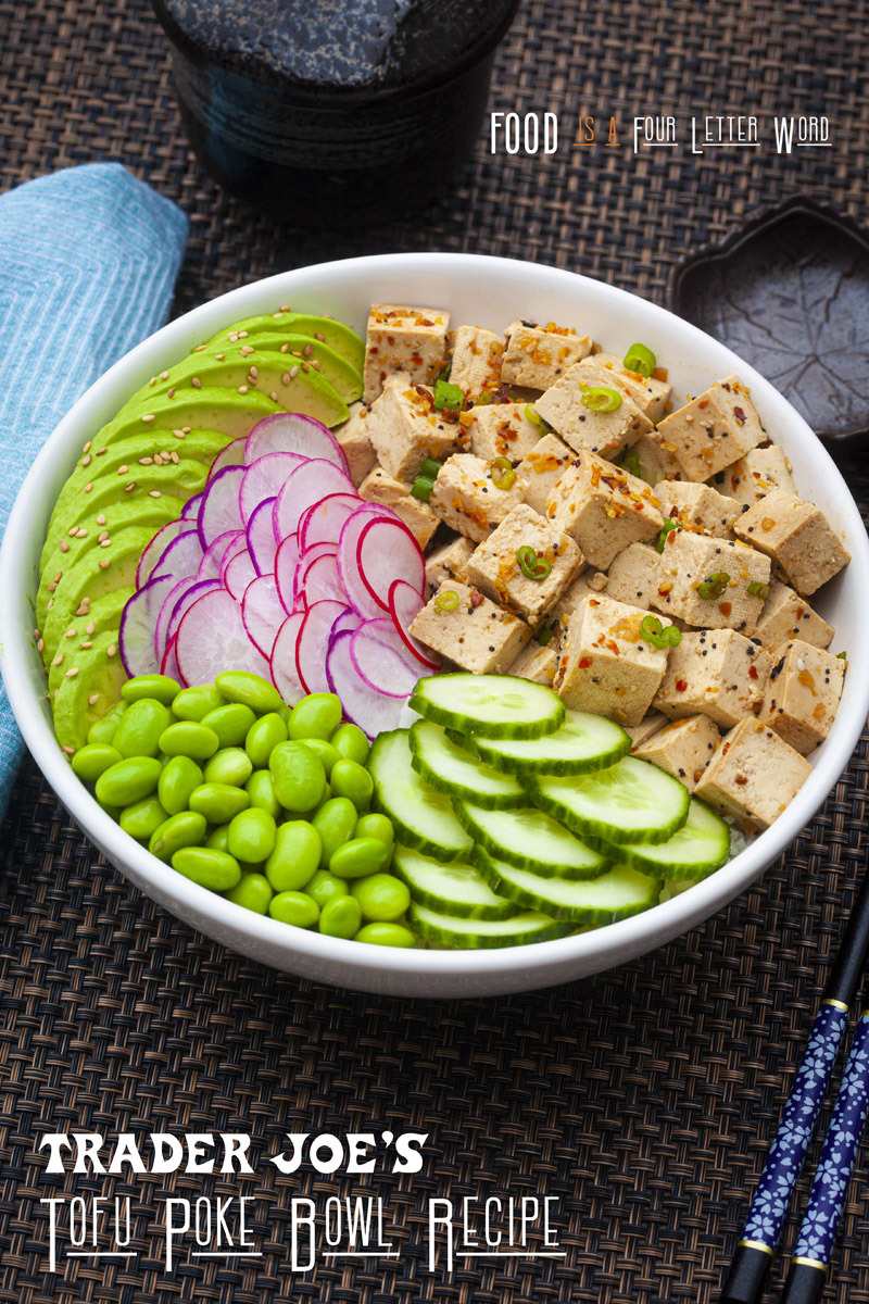 Trader Joe's Tofu Poke Bowl Vegan Recipe