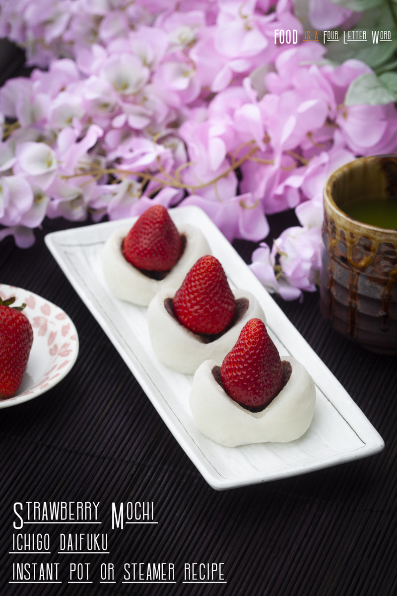 Strawberry Mochi Recipe for Instant Pot or Steamer (Ichigo Daifuku)