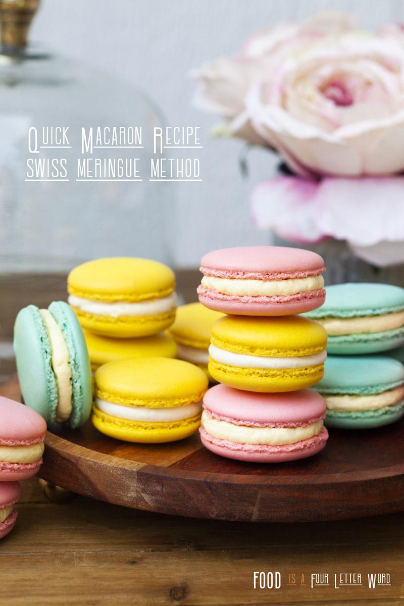 Quick Macaron Recipe - Swiss Method + Oven Drying