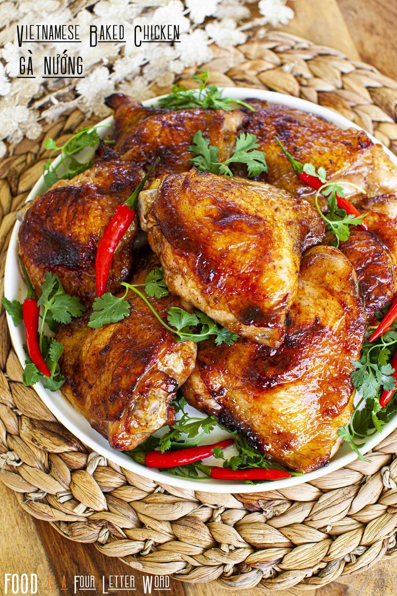 Vietnamese Baked Chicken Recipe (Gà Nướng)