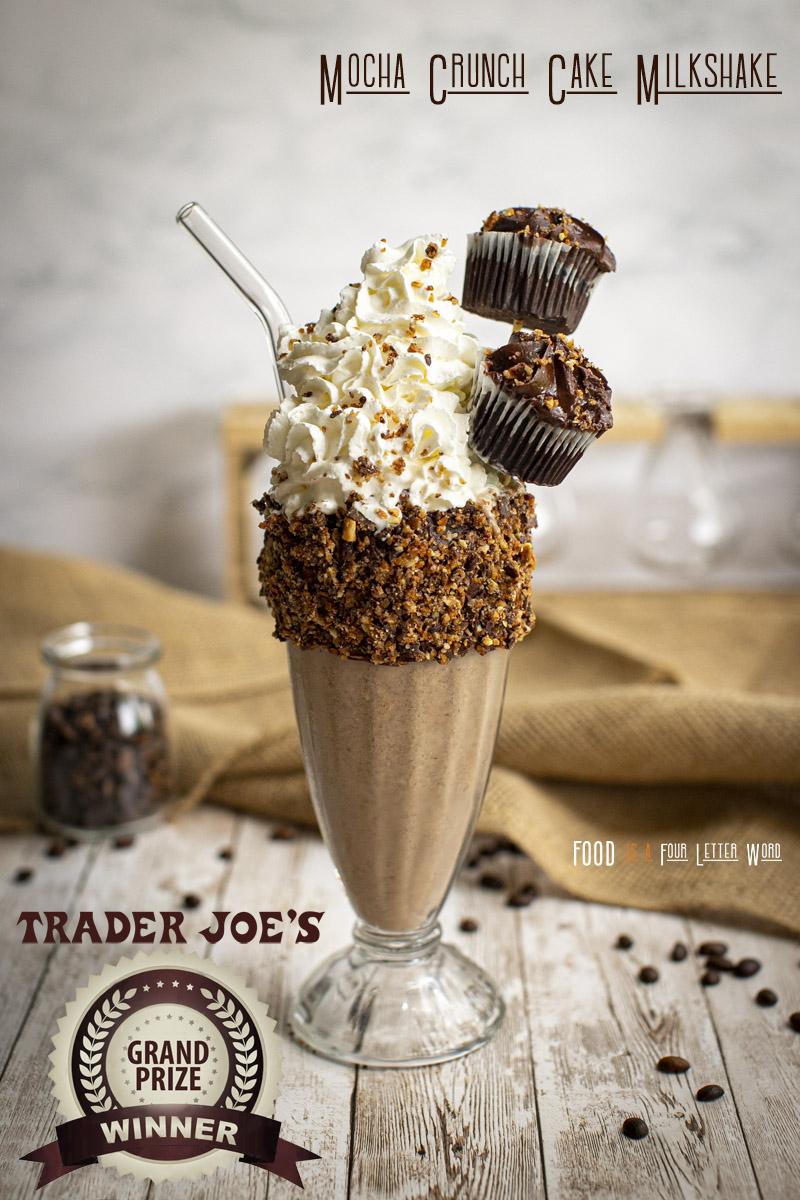 Trader Joe's Mocha Crunch Cake Milkshake Recipe