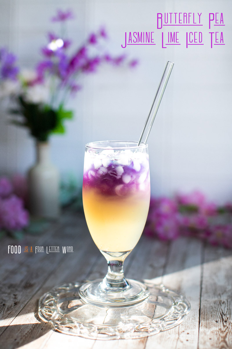 Butterfly Pea Jasmine Lime Iced Tea Recipe