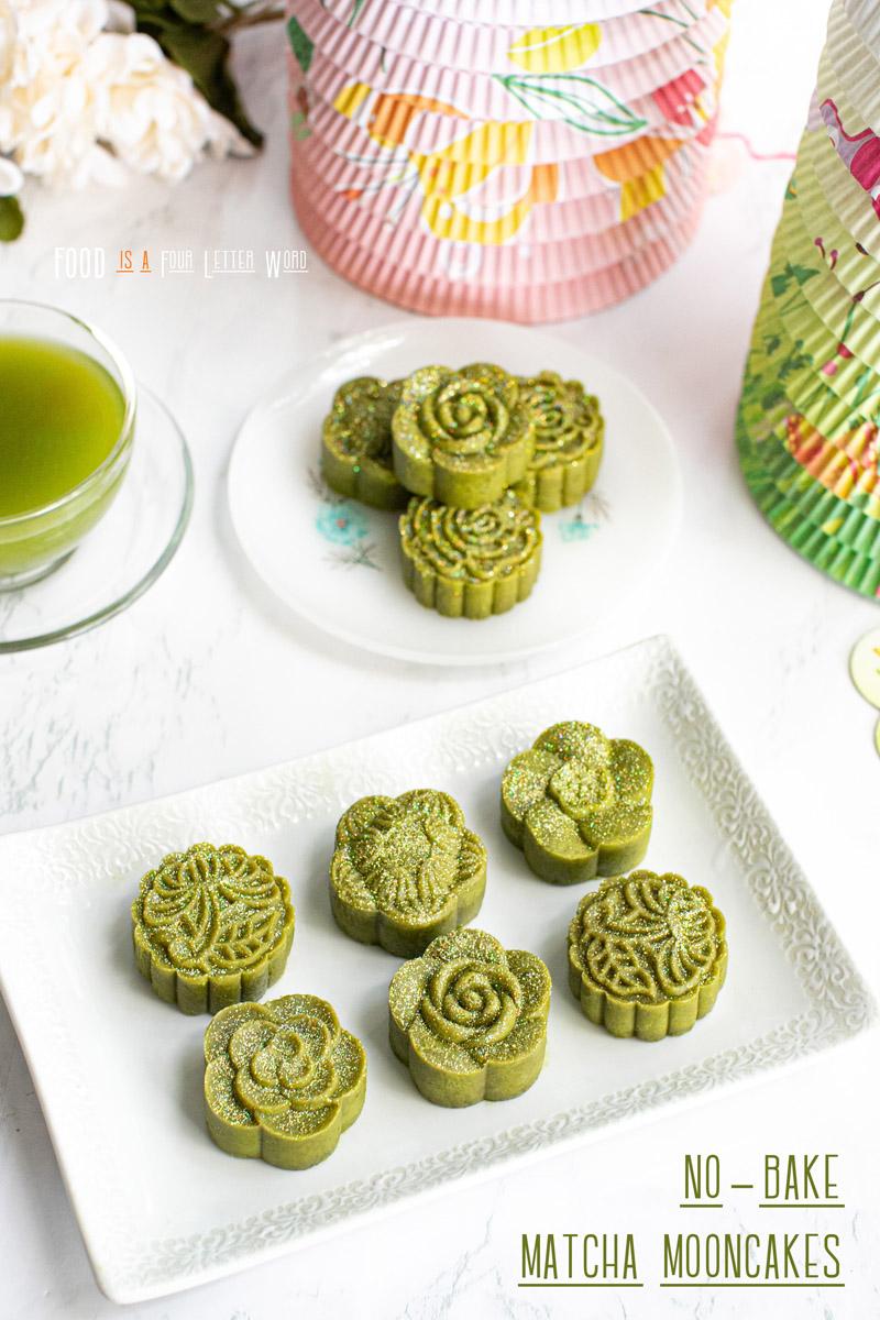 No-Bake Matcha Mooncakes Recipe